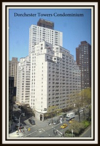 This is Dorchester Towers Condominium at 155 West 68th Street