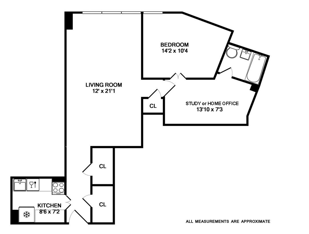 155 West 68th Street 1833 Spacious One Bedroom With Home